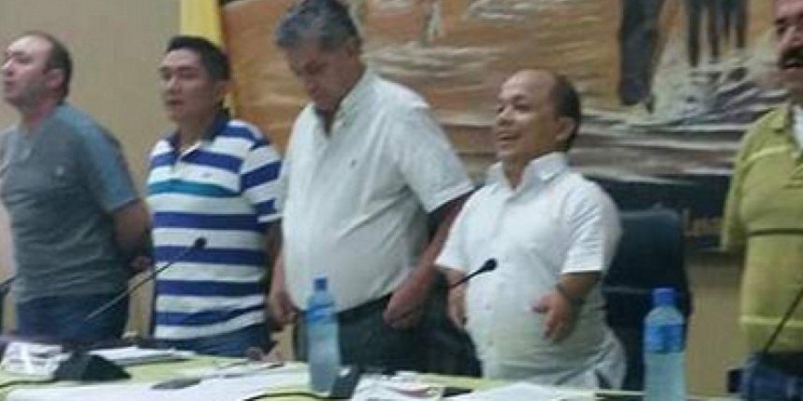Alexis Calvo (centro) como presidente de la Asamblea Departamental de Casanare. Foto:Tomada de www.eltiempo.com