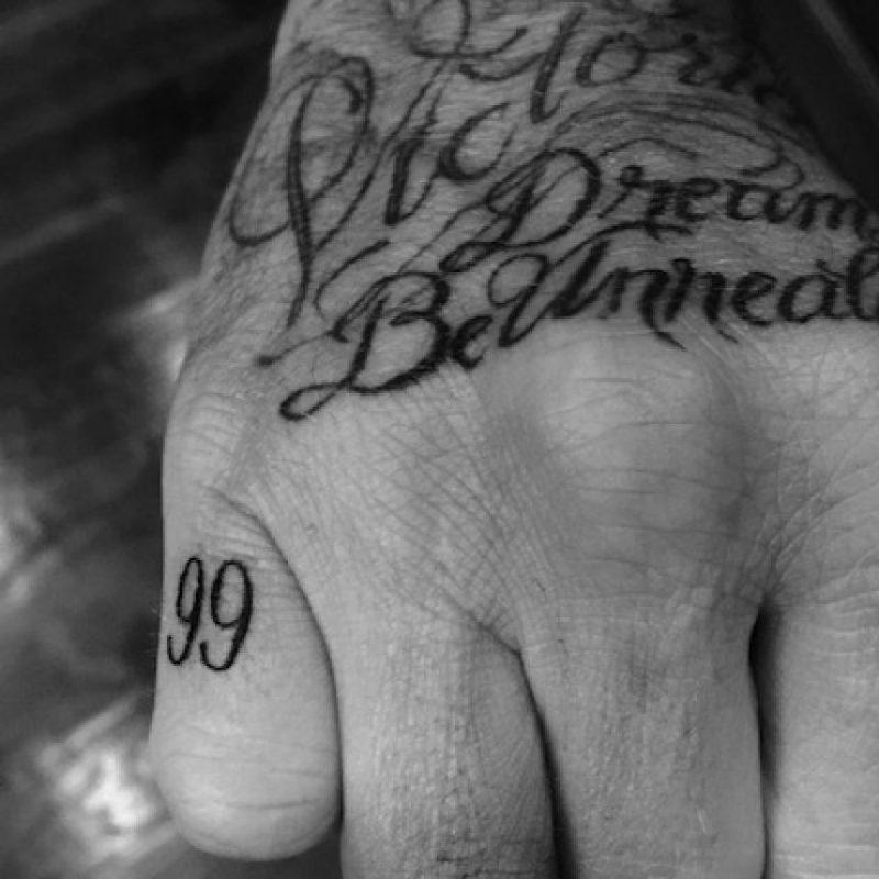 """""""99"""" año en que se casó con la ex Spice Girl Foto:Instagram/DavidBeckham"""