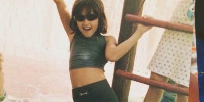 Paulina Vega publicó esta imagen de cuando era pequeña.