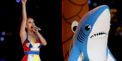 Taylor Swift revivió al tiburón que utilizó Katy Perry en el Super Bowl. Foto:Getty Images