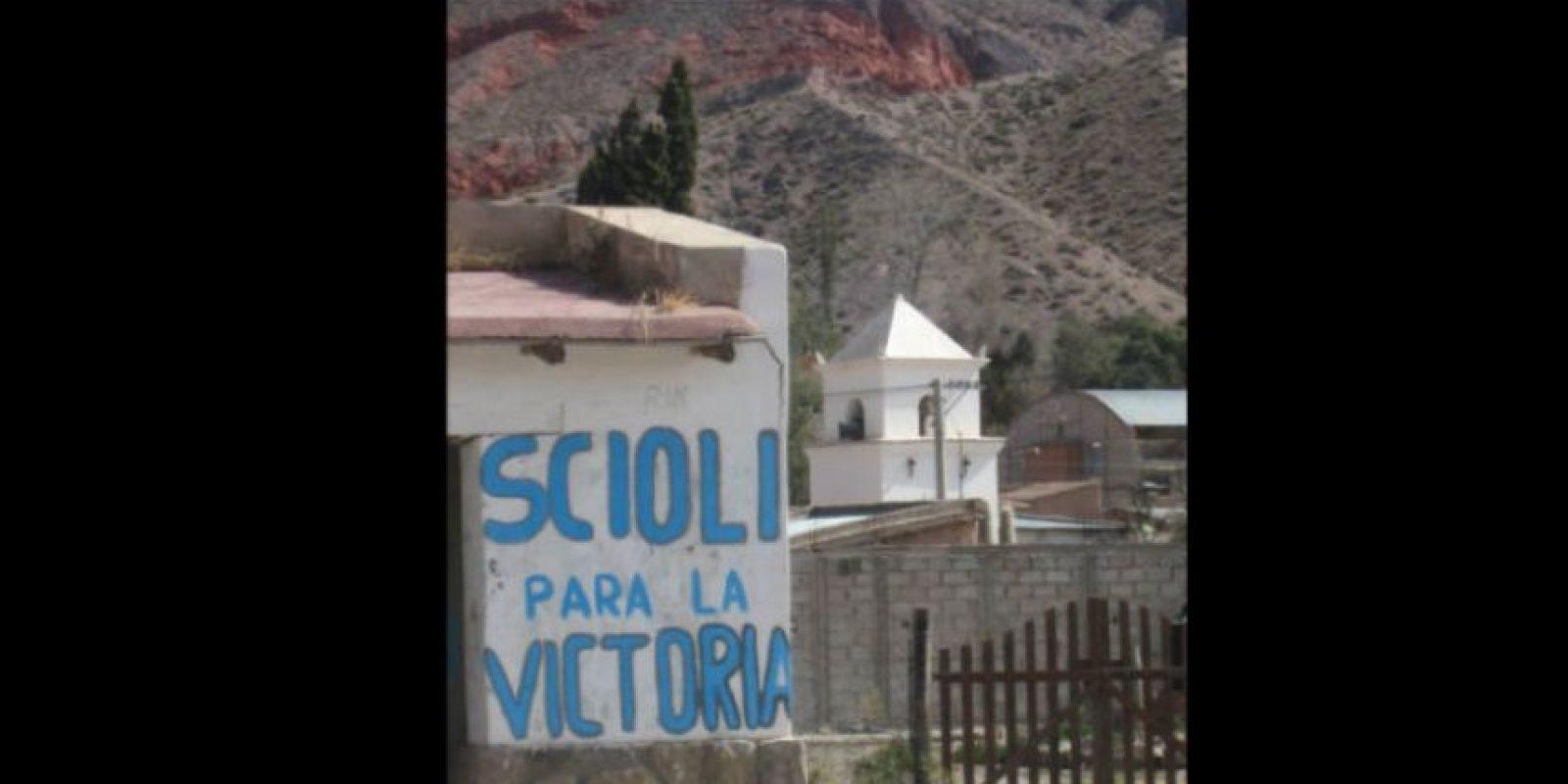 Las pinturas son de una campaña a la presidencia en Argentina. Foto:Vía facebook.com/Viltipoco10000