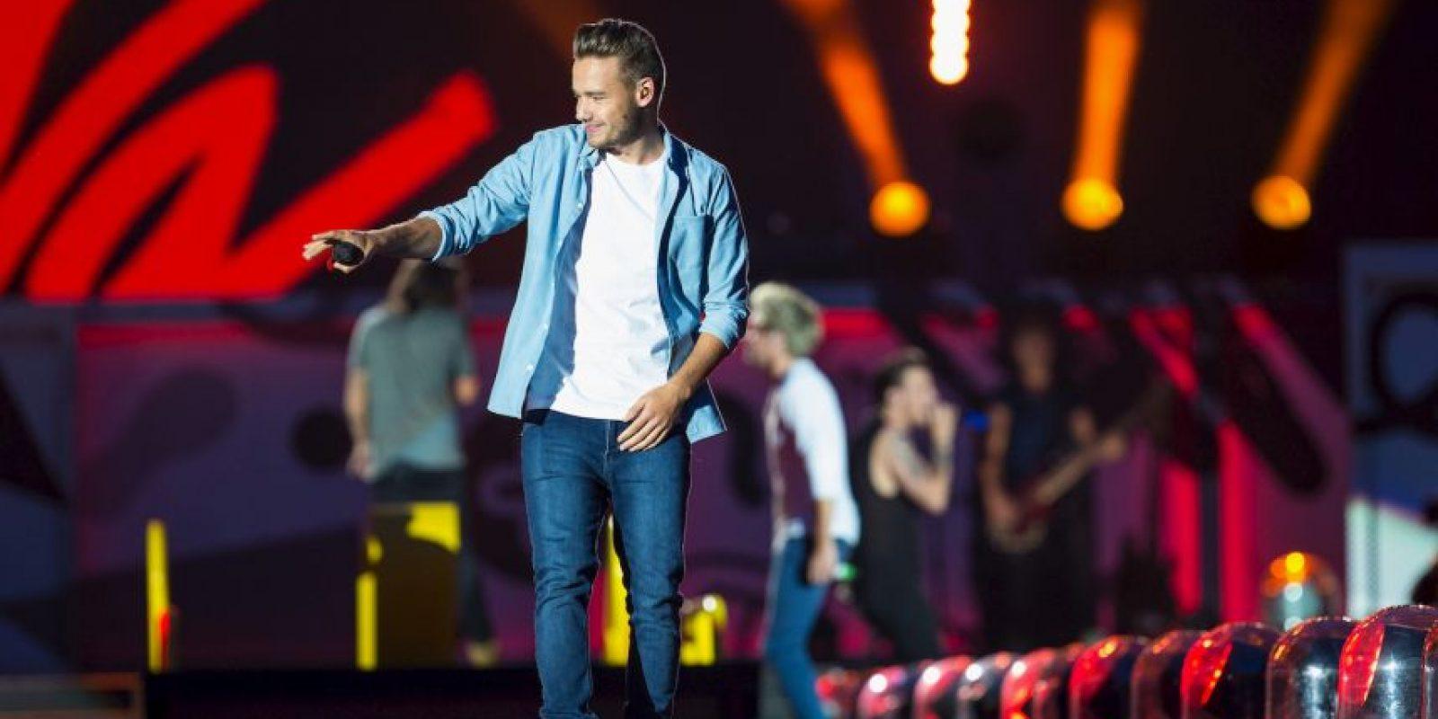 Liam en lugar de enojarse, siguió cantando. Foto:Getty Images