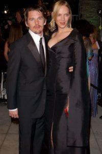 El actor Ethan Hawke y la niñera Ryan Shawhughes se enamoraron cuando él estaba casado con la actriz Uma Thurman Foto:Getty Images