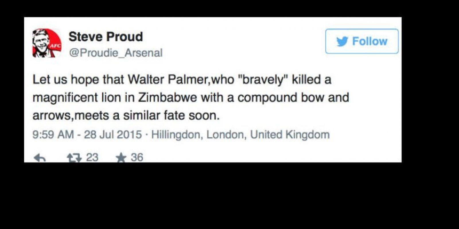 """Ahora Palmer, del que no se sabe su paradero, es """"cazado"""" en Internet. Foto:vía Twitter"""