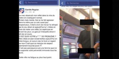 Fue porque un hombre se masturbó casi que encima de ella en el metro de París. Ella le tomó foto y lo denunció. Foto:vía Facebook/Camille Regnier