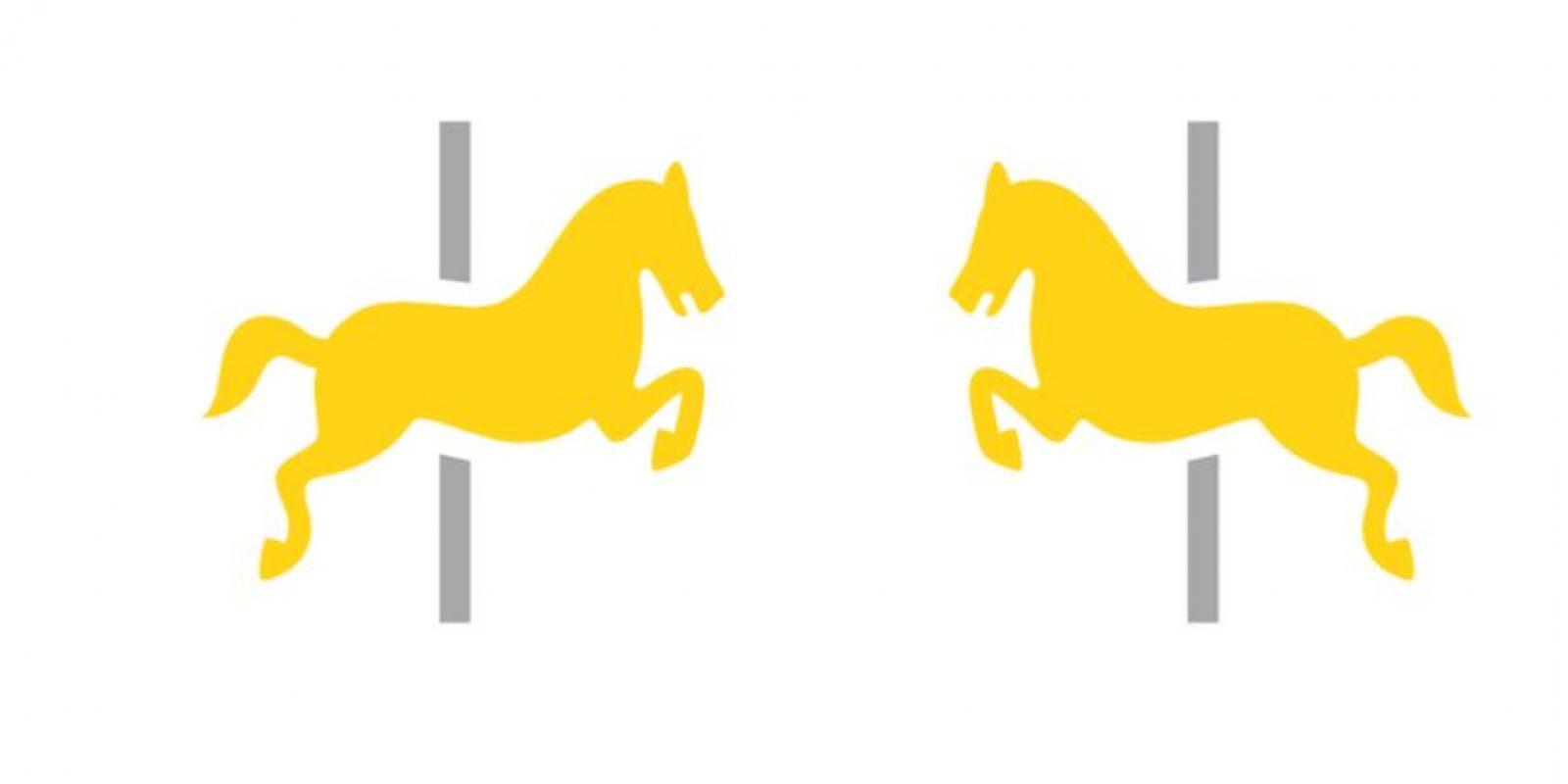 El dibujo que representa el carrusel cambió de perfil Foto:Emojipedia
