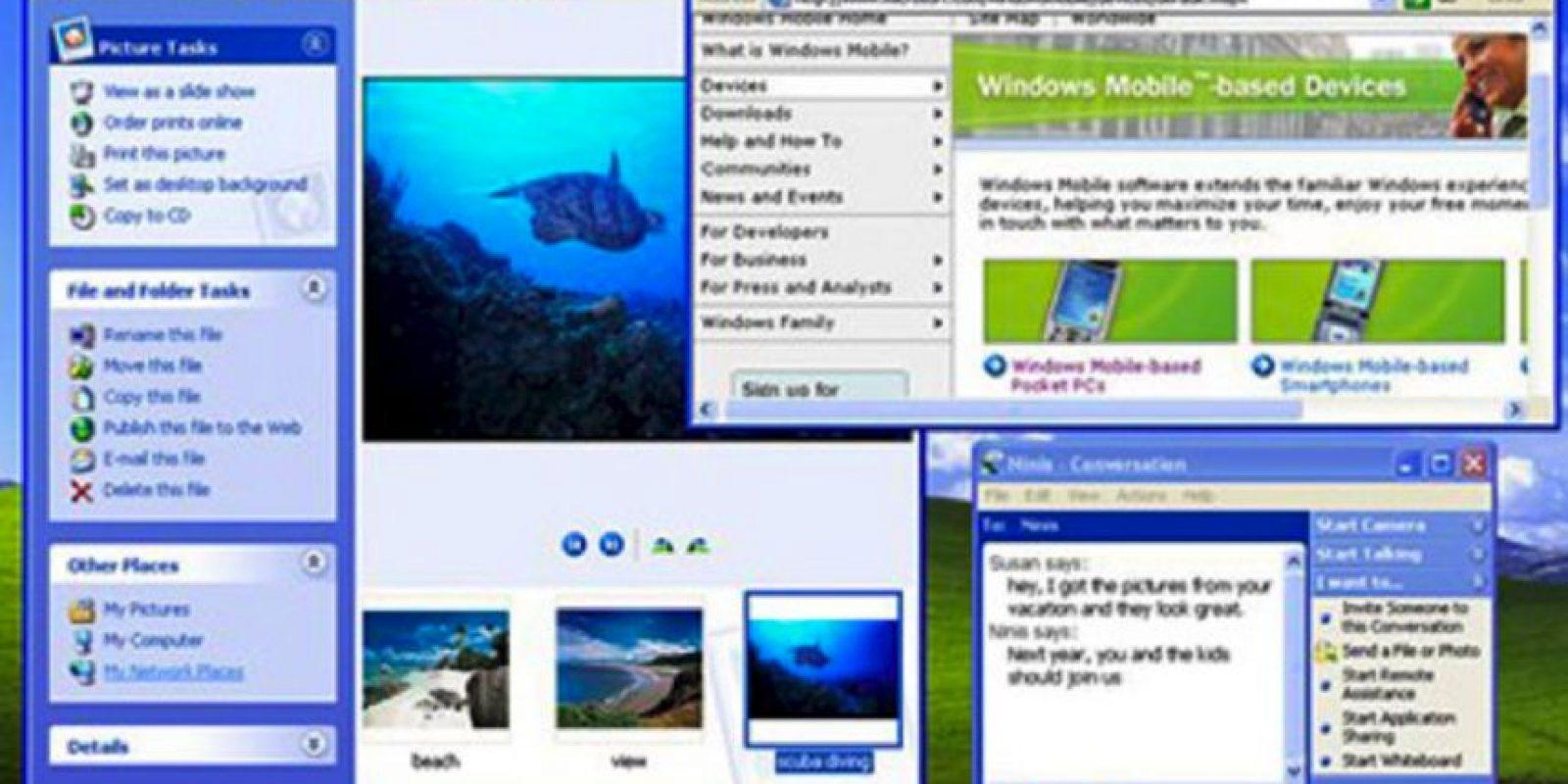 Plataformas como Windows 2000, Windows Me y Windows Home tuvieron ligeras mejoras en el software. El Windows XP terminó con la actualización definitiva de estas versiones Foto:Microsoft