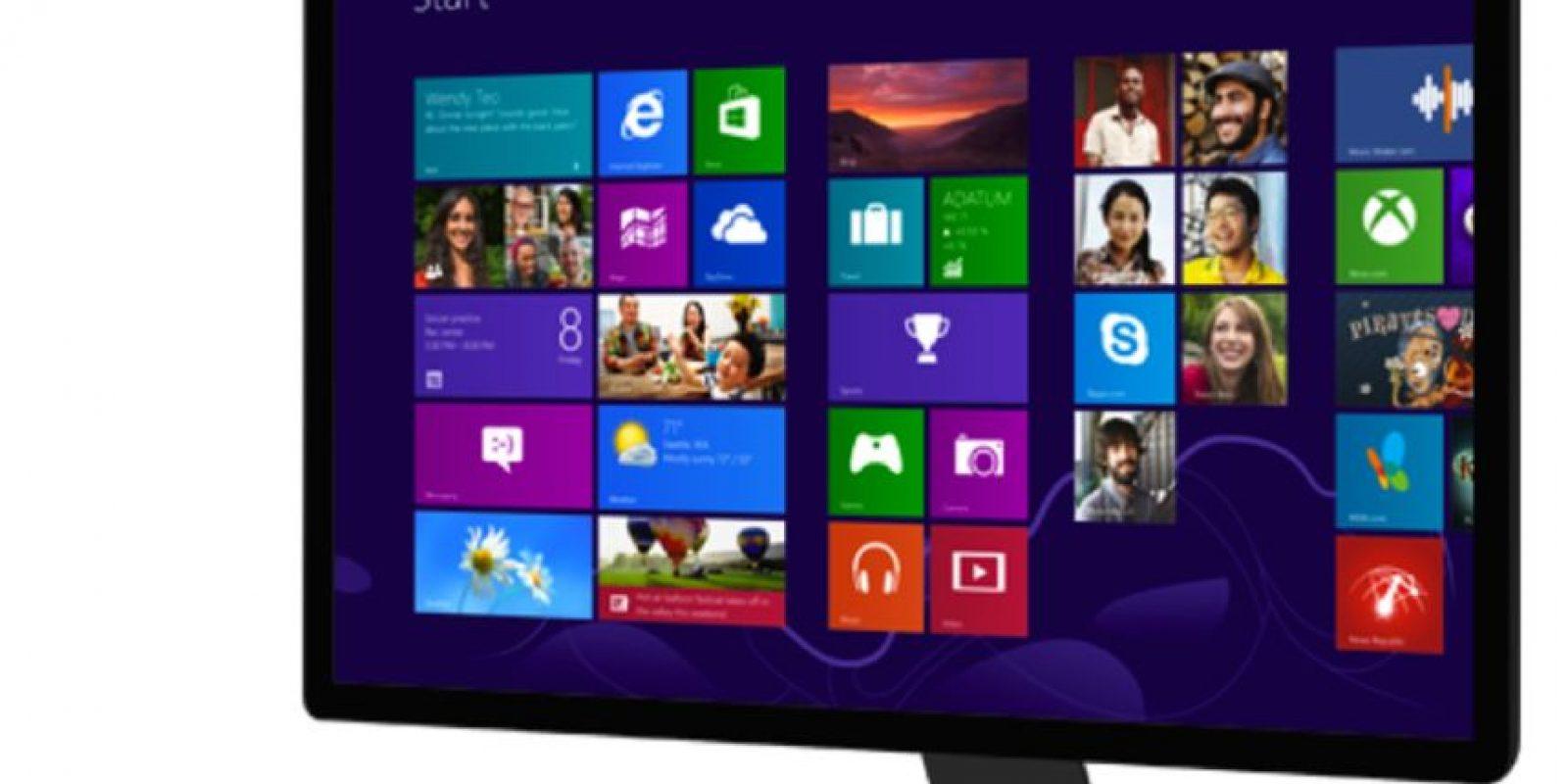 Windows 8 y 10 es la interfaz completamente renovada de sus sistema operativo Foto:Microsoft