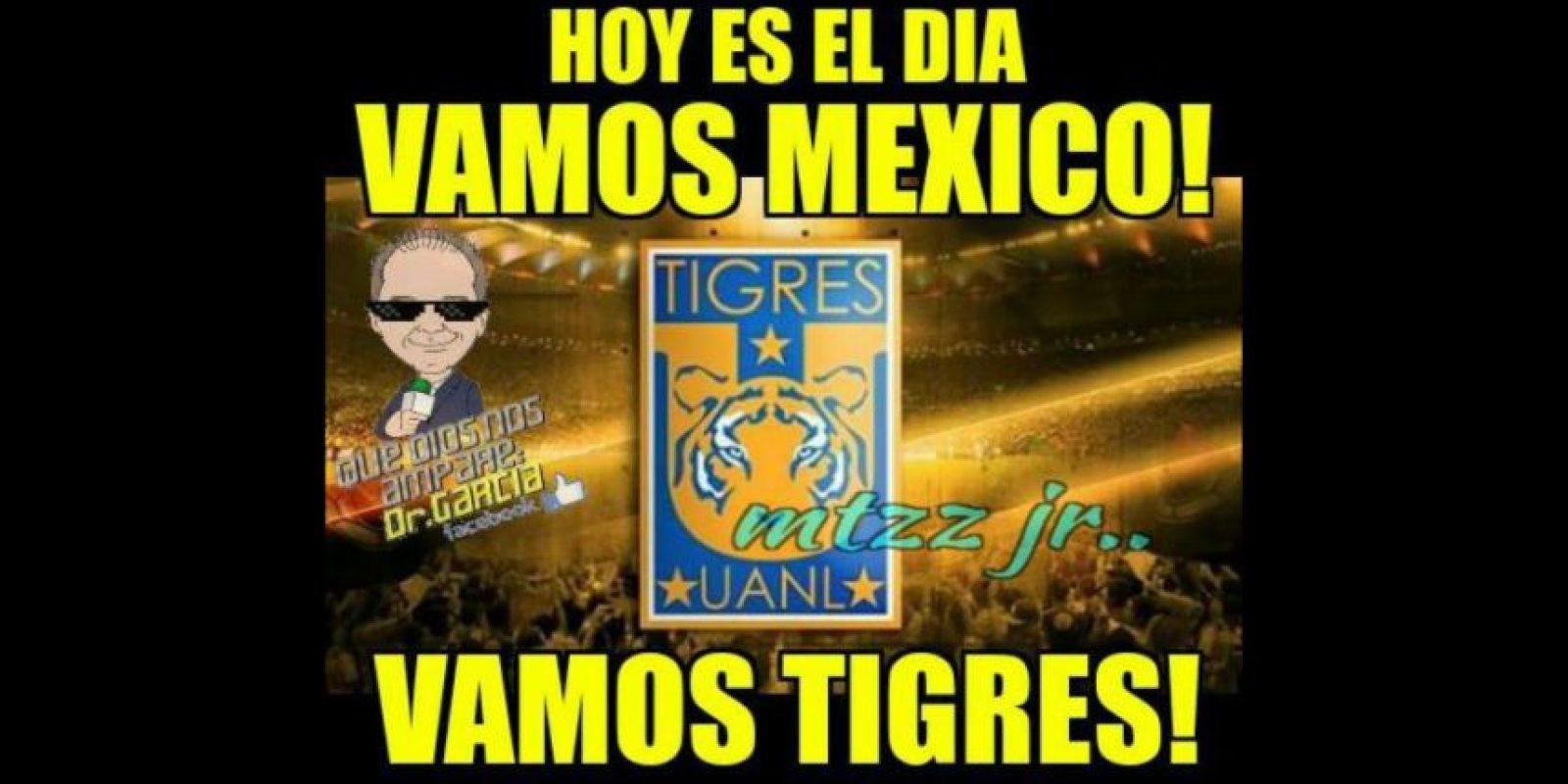 Que buscó unirse en apoyo a los Tigres. Foto:Vía twitter.com