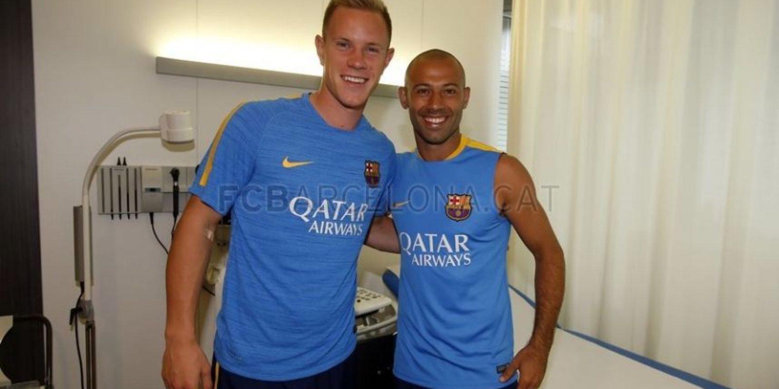 Los futbolistas hicieron los exámenes médicos correspondientes. Foto:fcbarcelona.com