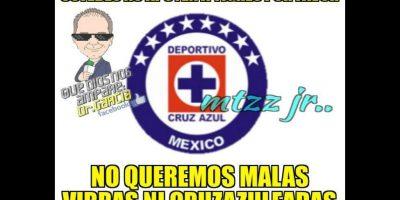 Y tampoco querían el apoyo de Cruz Azul. Foto:Vía twitter.com