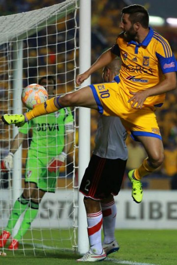 Gignac no pudo lucir en la final de ida de la Copa Libertadores ante River Plate. Foto:Getty Images