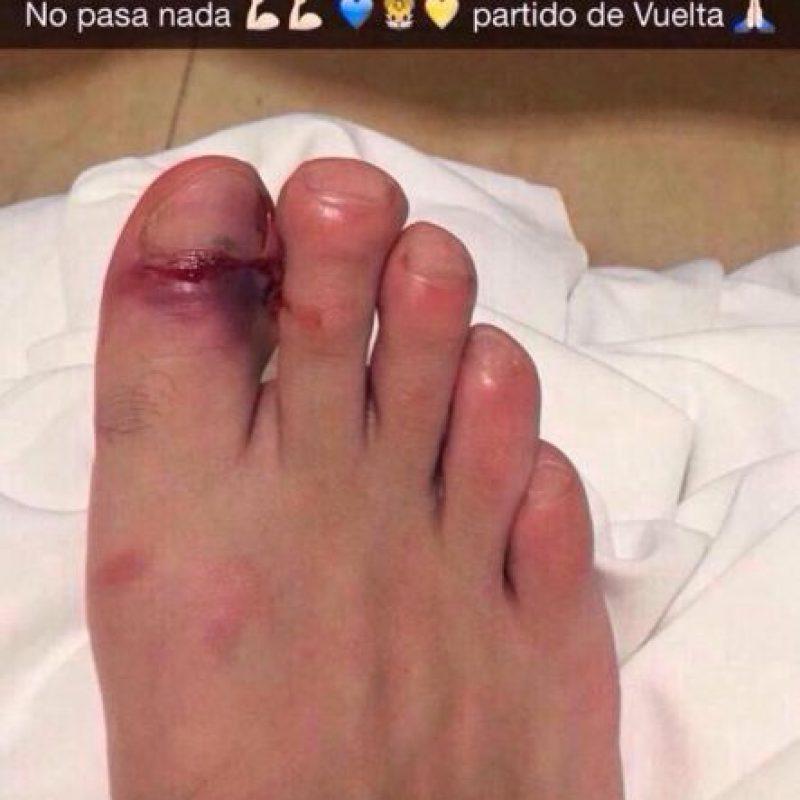 El delantero francés de Tigres, André-Pierre Gignac compartió esta foto en su Snapchat, luego del partido ante River Plate.