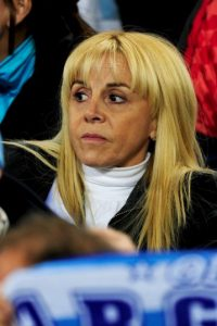 Claudia Villafañe, exesposa del argentino. Foto:Getty Images