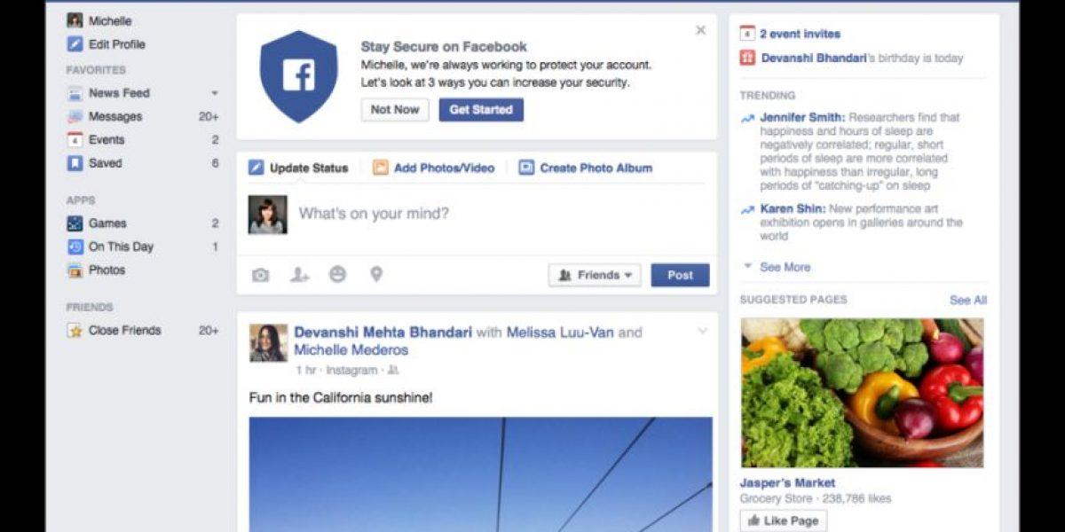 Facebook lanzó nuevas opciones de seguridad para su cuenta