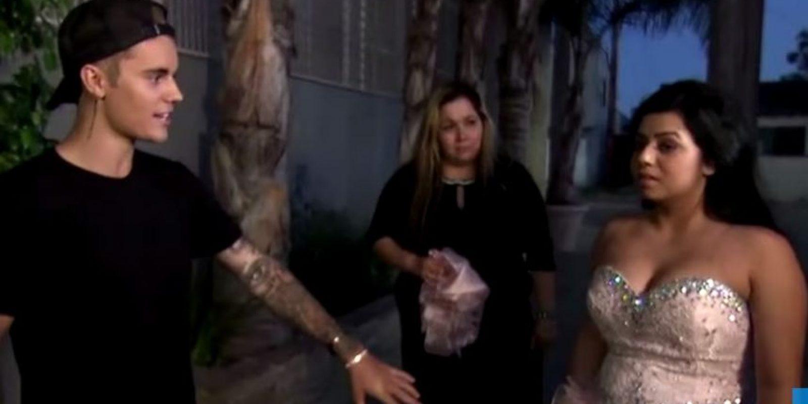Justin sorprendió a la joven llamada Ashley, y a su familia en su casa, para llevarla a su fiesta de cumpleaños en una limusina Foto:FOX