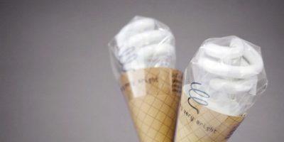 Bombillos en forma de helado.