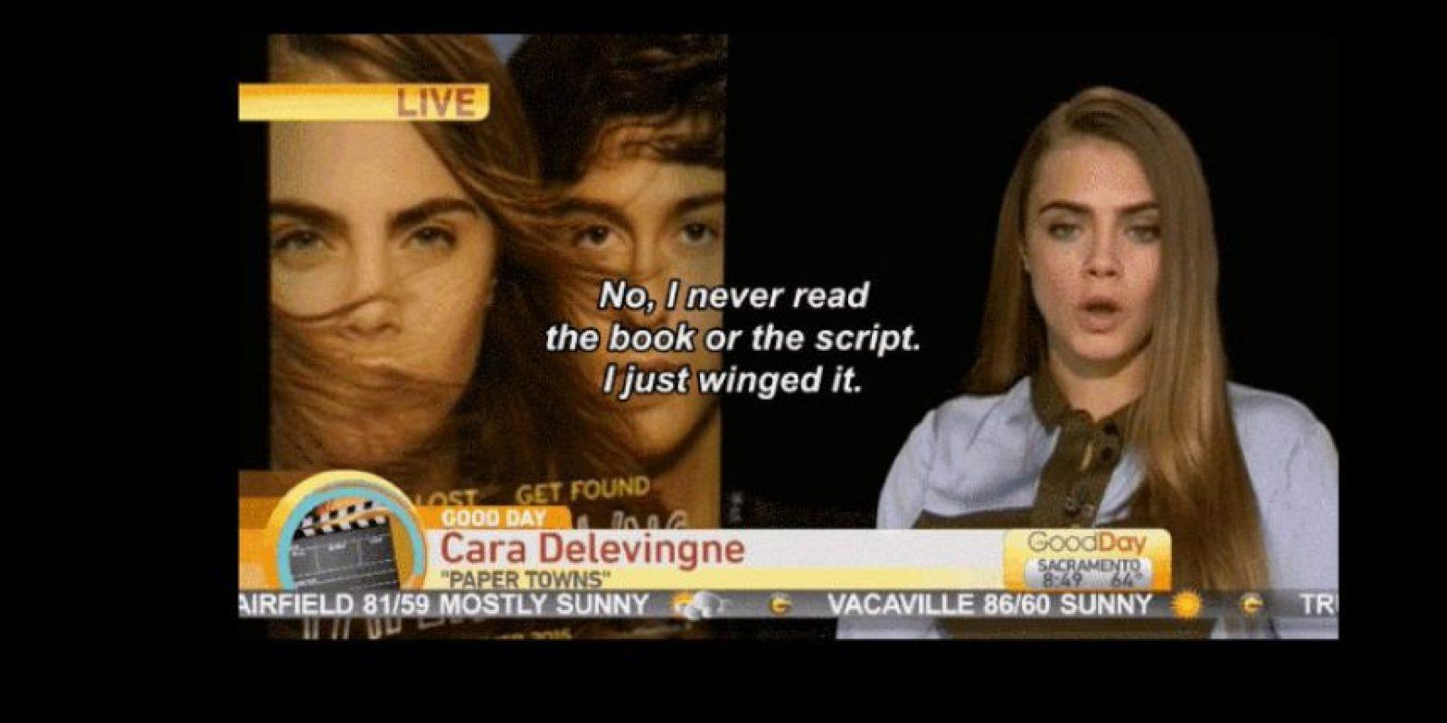 """Ella respondió con todo el sarcasmo que pudo: """"No, no leí nunca el libro ni el guión. Solo los hojeé"""". Foto:vía Youtube"""