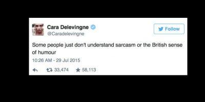"""Ella solo afirmó: """"Algunas personas no entienden el sarcasmo que viene con el sentido del humor británico"""". Foto:vía Twitter"""