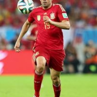 Representó a España en la Copa del Mundo 2014 aunque no pudo anotar en los dos partidos que disputó. Foto:Getty Images