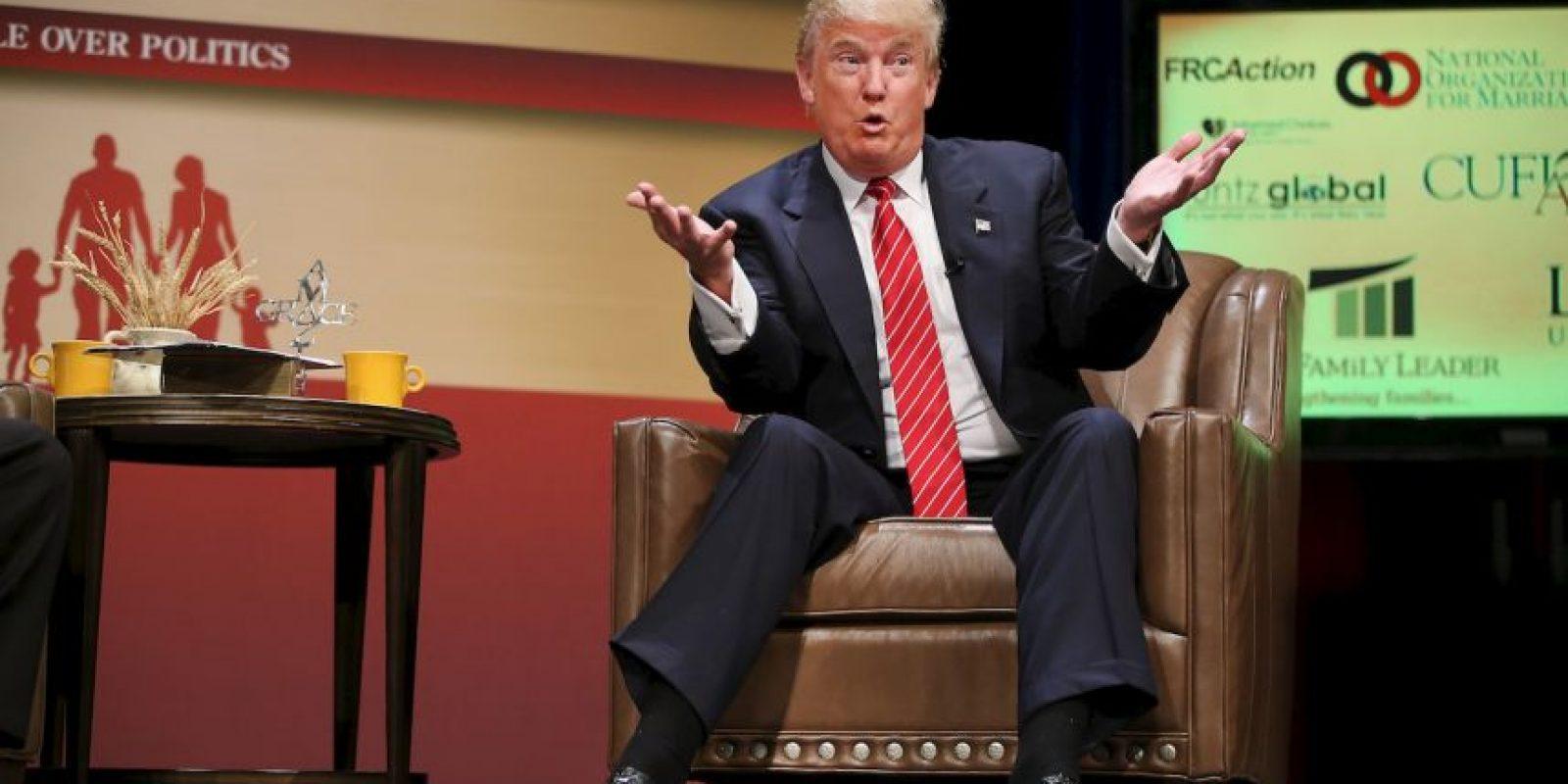 """""""Detrás de Trump están el gobernador de Wisconsin, Scott Walker, con 13 por ciento y el ex gobernador de Florida, Jeb Bush, con 10 por ciento. Ningún otro republicano supera el 6 por ciento y el 12 por ciento están indecisos"""", detalla el informe. Foto:Getty Images"""