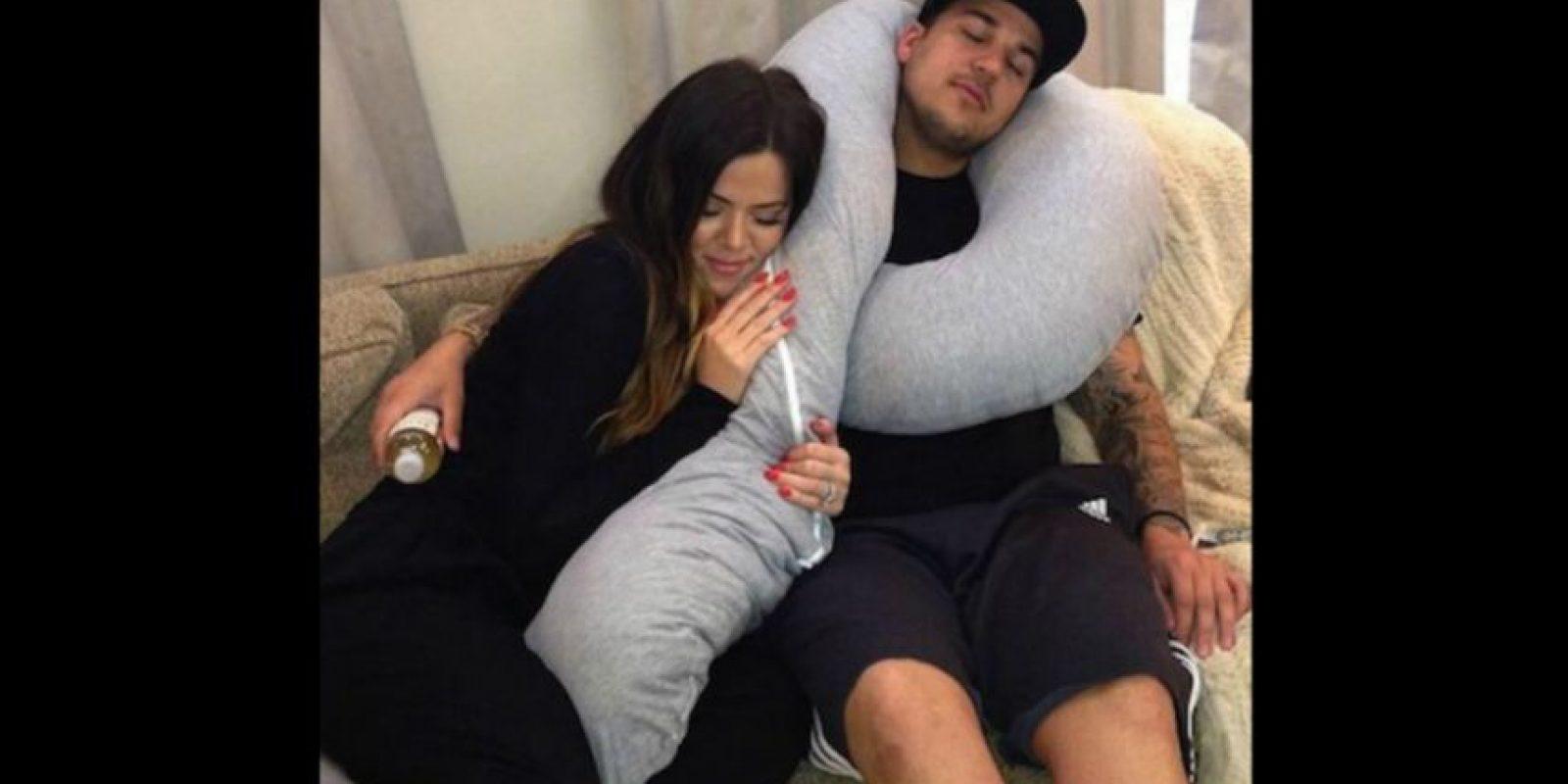 Actualmente, Rob se encuentra viviendo con su hermana Khloé Foto:Instagram/KhloeKardashian