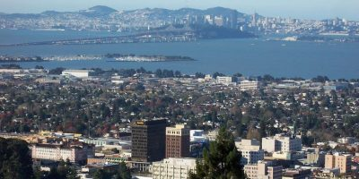 Toma aérea de Berkele y San Franciscoy, California Foto:Wikipedia
