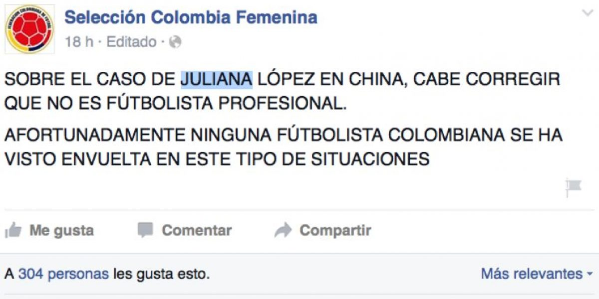 Indignación en aficionados de la selección femenina por Juliana López