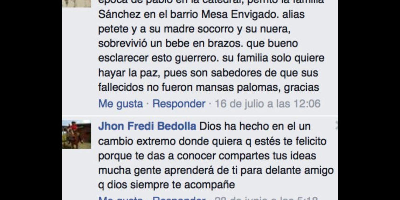 Parece que en redes se gana la simpatía de los que ven en él el mito de Pablo Escobar. Foto:vía Facebook/Pope El Guerrero