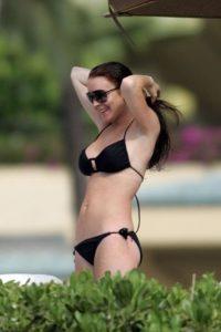 Anteriormente, Lohan lucía una envidiable y esbelta silueta Foto:The Grosby Group