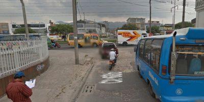 En la avenida 68 con calle 68b está este impresionante cráter. Foto:Google Street View