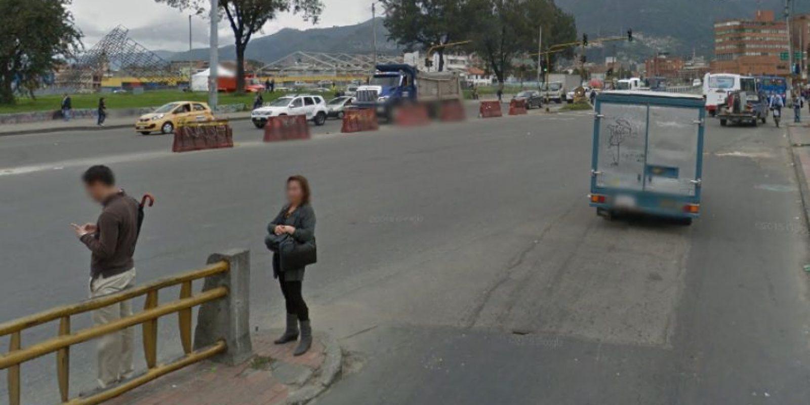 En intersección de la avenida de las Américas con carrera 30 se ubica este trancón que termina de afectar la movilidad del sector. Foto:Google Street View