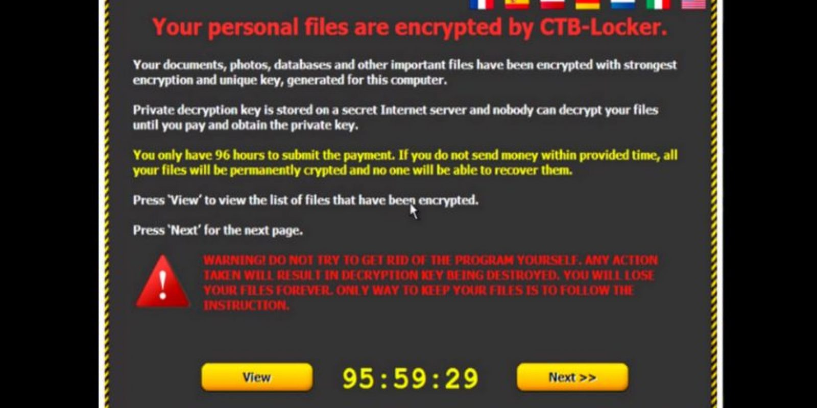 Y este es el anuncio que les pedirá cubrir el costo para recuperar su equipo Foto:blogs.cisco.com