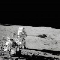 Una imagen de la misión Apolo 14 en la superficie lunar Foto:Instagram.com/NASA