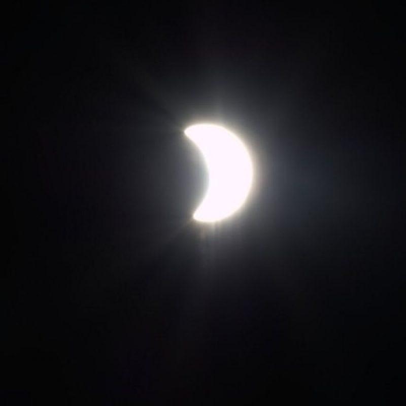 El eclipse solar del 20 de marzo, captado desde la Estación Espacial Internacional Foto:Instagram.com/NASA