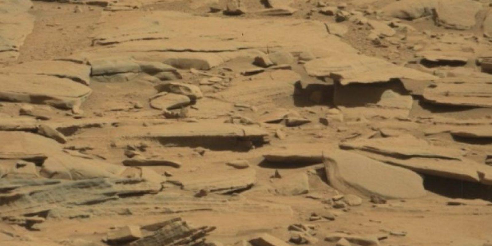 Se descubrió en agosto de 2014 Foto:. Foto original en http://mars.jpl.nasa.gov/msl-raw-images/msss/00601/mcam/0601MR0025370020400768E01_DXXX.jpg