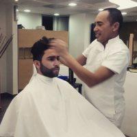 Mientras se preparaba para la transformación. Foto:Instagram Edwin Garrido