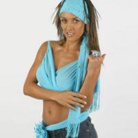 Fey impuso las terribles ombligueras playeras, las bandanas… WTF? Foto:vía Tumblr