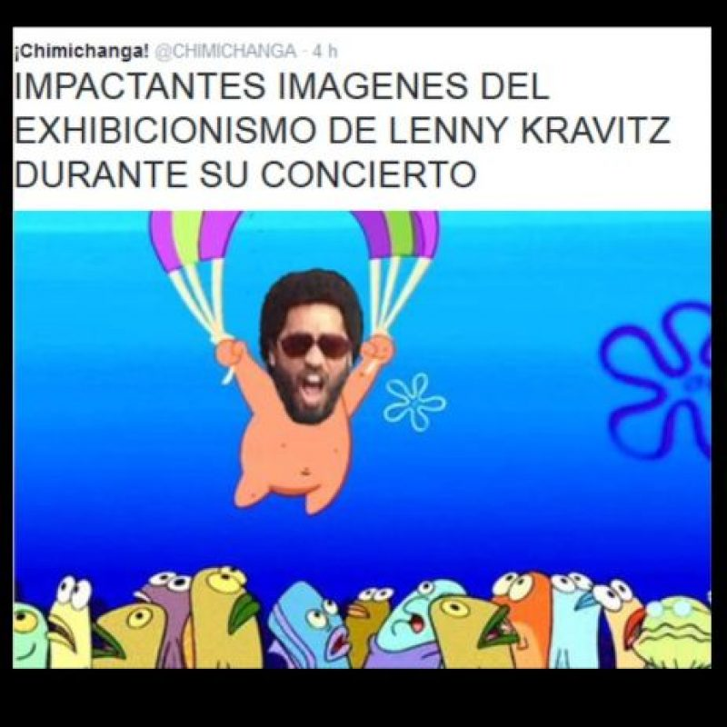 Foto:Vía Twitter #LennyKravitz