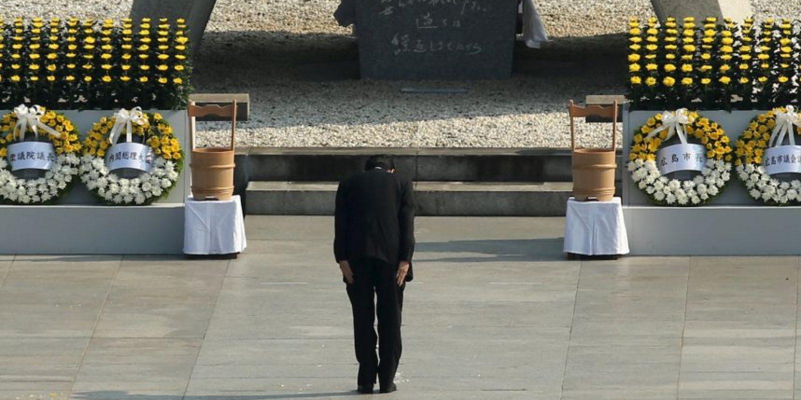 En su intervención, Abe anunció que su país presentará una nueva propuesta de resolución ante la Asamblea General de la ONU en los próximos meses sobre la abolición de las armas nucleares Foto:Getty Images
