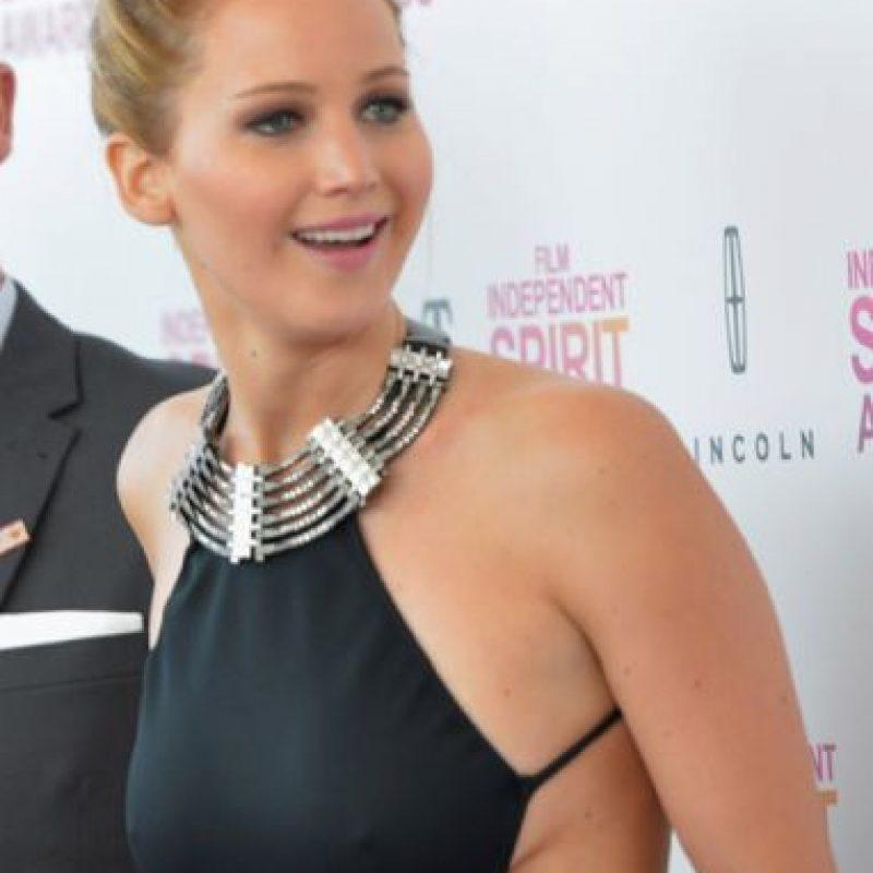 Jennifer Lawrence, sin problemas. Foto:vía Getty Images