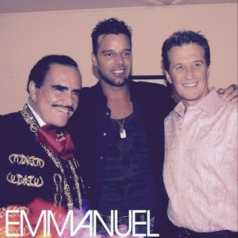 Ricky Martin, Emmanuel y Vicente Fernández Foto:Twitter/EmmanuelOficial
