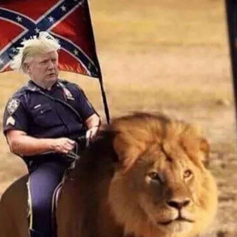 Y mientras tanto, esto hacían con Trump. Foto:vía Twitter