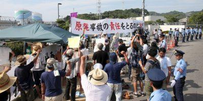 Activistas en contra de la energía nuclear se manifestaron en la ciudad Sendai, ubicada al sur del país. Foto:AFP