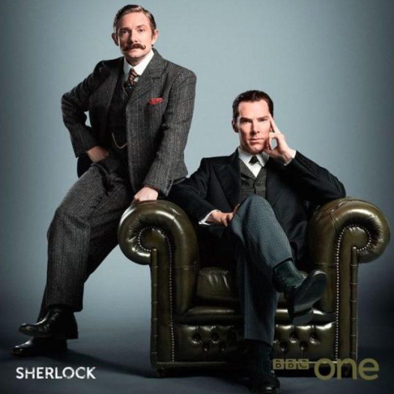 """""""Sherlock"""" es una adaptación moderna del personaje de """"Sir Artur Conan Doyle"""" en la serie de televisión de BBC Foto:IMDb"""