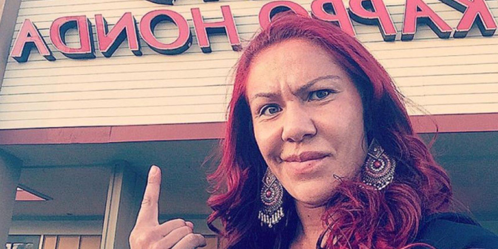 """Una de las candidatas a enfrentar a Ronda Rousey también le ha """"mandado mensajes"""" Foto:Via instagram.com/criscyborg"""