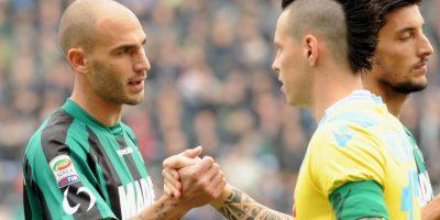 """El eslovaco del Nápoles lleva unos de los """"mohicanos"""" más extravagantes del fútbol. Foto:Getty Images"""