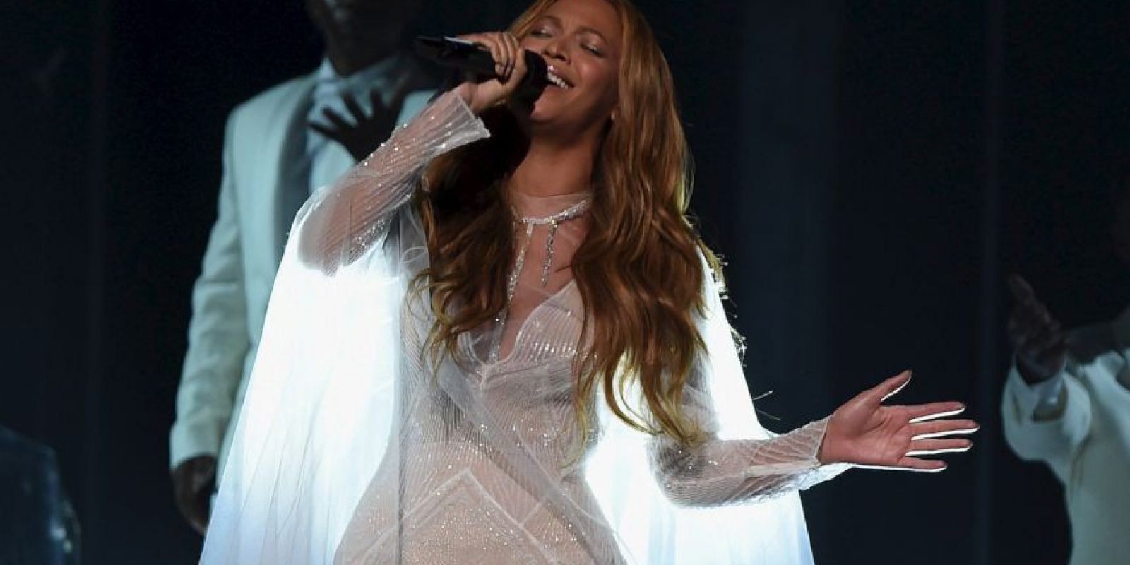 El 28 de agosto de 2011 anunció su primer embarazo, fruto del matrimonio con el rapero Jay-Z. Foto:Getty Images