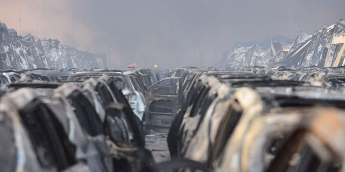Video: Dron capta la zona de explosión en China que dejó más de 50 muertos