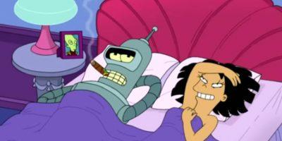 En otro, se vio cómo Amy tenía sexo con Bender. Foto:vía FOX